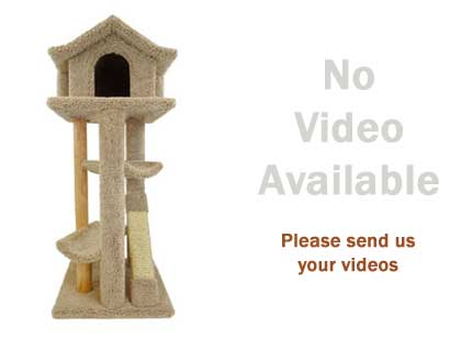 "best cat trees reviews image for no video available for the New Cat Condos 46"" Pagoda"