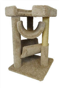 "No. 9 New Cat Condos 33"" Premier Cat Scratching Tree"