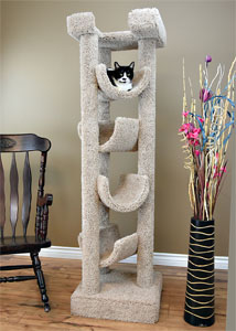 "No. 6 New Cat Condos 72"" 5 Level Cradle"