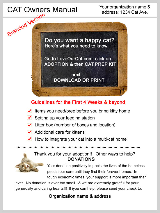 Cat owners Manual brochure